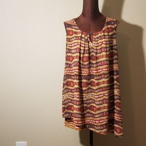3for$2 - yellow/red multi-colored tunic